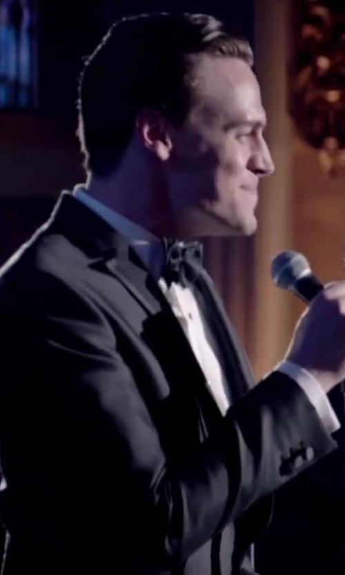 Erich Bergen with Ike Behar Satin Notched-Lapel Wool Classic-Fit Tuxedo in Jersey Boys