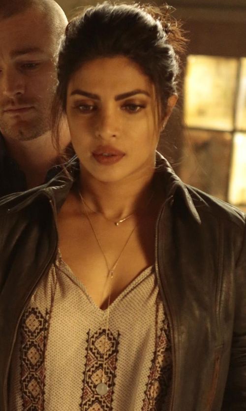 Priyanka Chopra with 8 Other Reasons Jade Heart Rosary Necklace in Quantico