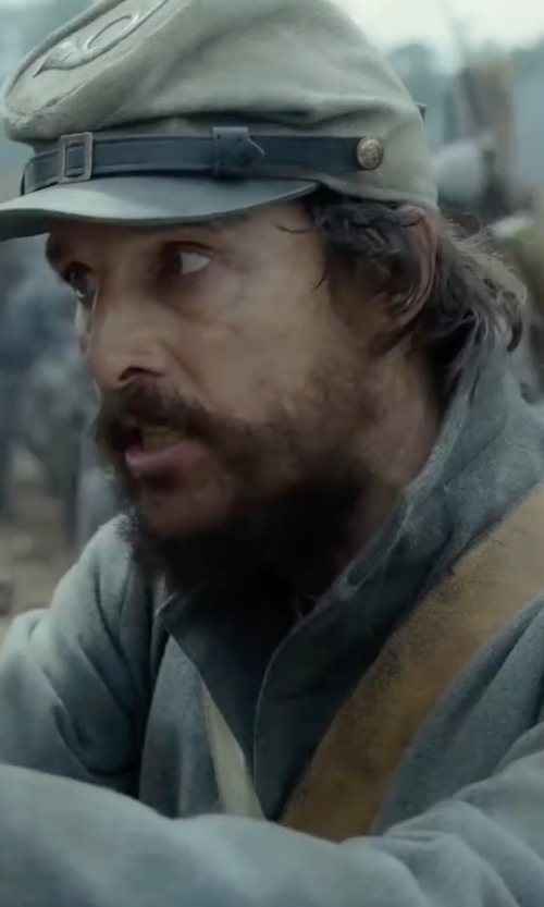 Matthew McConaughey with Jacobson Hat Company Federal Confederate Army Soldier Kepi Wool Hat in Free State of Jones