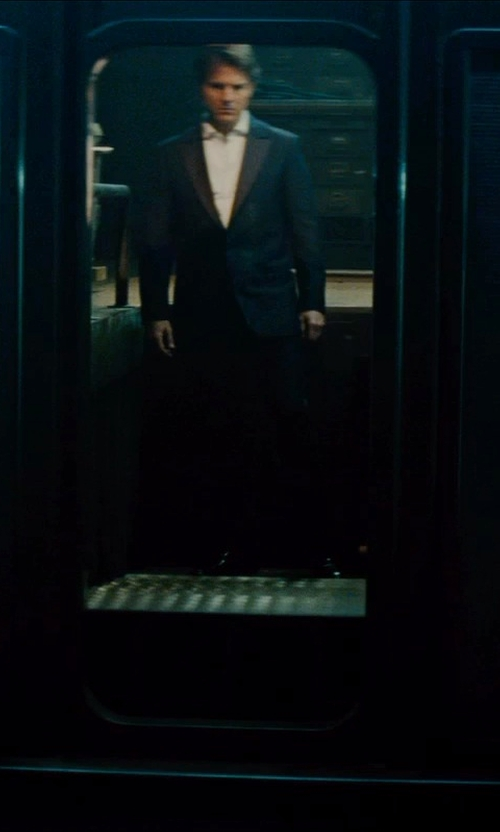 Tom Cruise with Brunello Cucinelli Wool Peak-Lapel Tuxedo Suit in Mission: Impossible - Rogue Nation