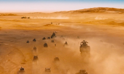 Tom Hardy with Namib Desert Namibia in Mad Max: Fury Road