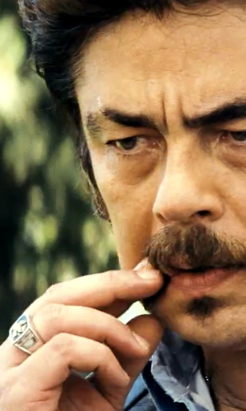 Benicio Del Toro with JC Penney Men's Diamond Cluster Ring in Savages