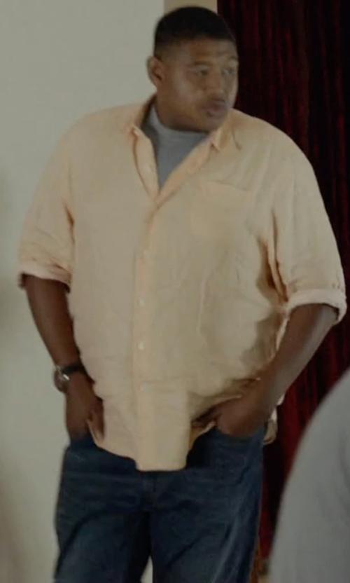 Omar Benson Miller with 3x1 Straight Leg Denim Pants in Ballers