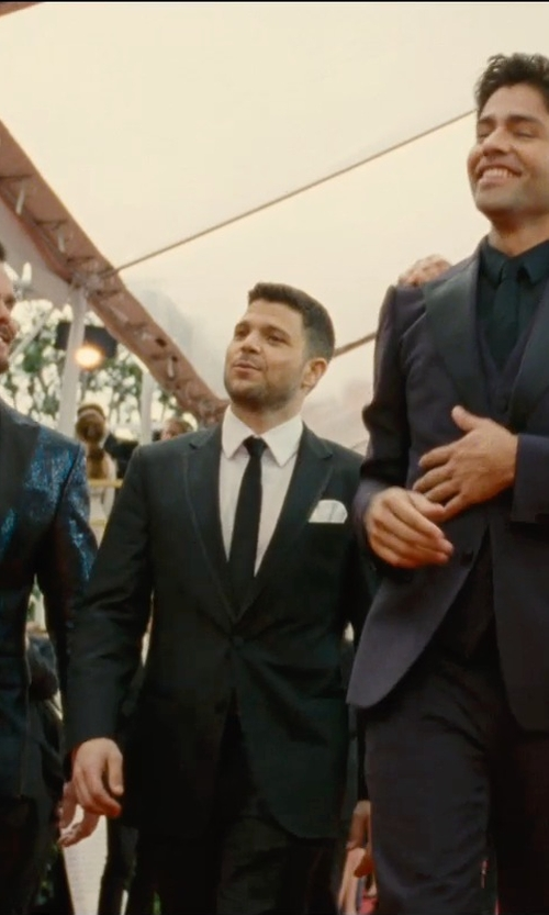 Jerry Ferrara with Turnbull & Asser Silk Pocket Square in Entourage