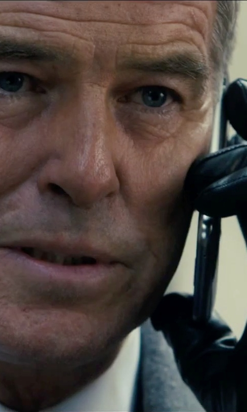 Pierce Brosnan with Burberry Cashmere-Lined Leather Touch Screen Gloves in Survivor