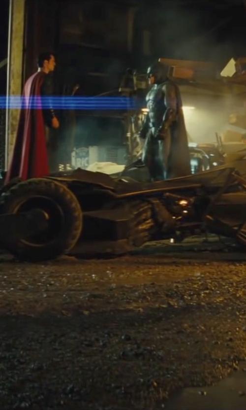 Ben Affleck with Ed Natividad (Conceptual Vehicle Designer) Custom Made Batmobile in Batman v Superman: Dawn of Justice