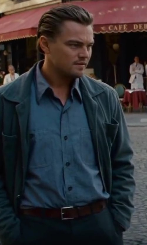 Leonardo DiCaprio with Will Leathergoods Willard Leather Belt in Inception