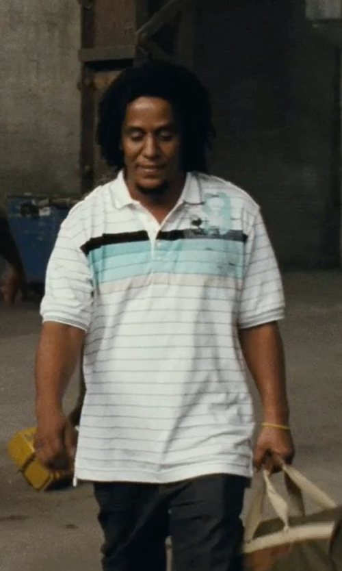 Tego Calderon with Nautica Short Sleeve Pieced Polo Shirt in Fast Five
