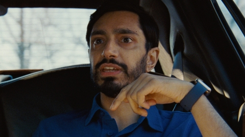 Riz Ahmed with Apple Midnight Blue Sport Band Watch in Jason Bourne
