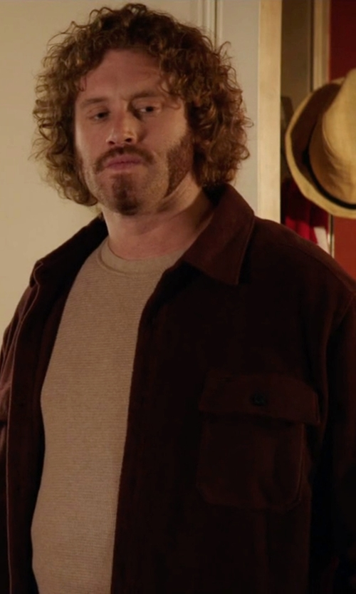 T.J. Miller with Prana Gomez Shirt Jacket in Silicon Valley