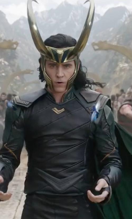 Tom Hiddleston with Mayes C. Rubeo (Costume Designer) Custom Made Loki Costume in Thor: Ragnarok