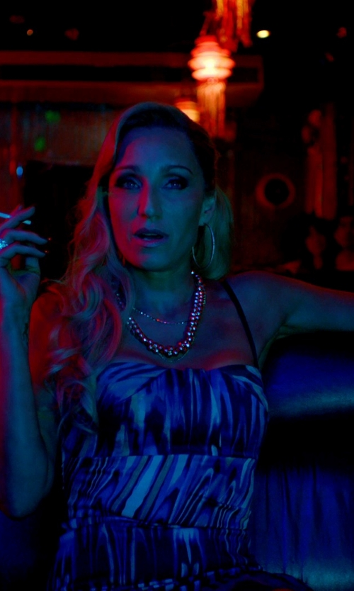 Kristin Scott Thomas with Nightcap Clothing Corset Slip Dress in Only God Forgives