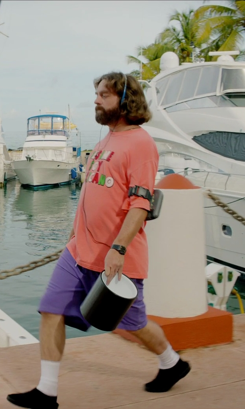 Zach Galifianakis with Sony Portable CD Player in Masterminds