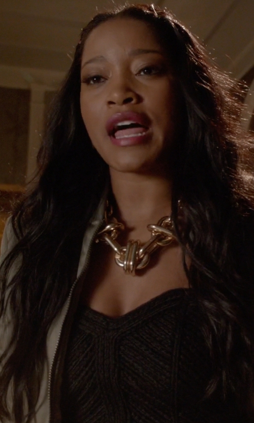Keke Palmer with H&M Embellished Bustier Top in Scream Queens