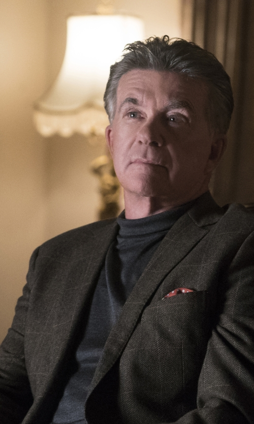 Alan Thicke with Boglioli 'Dover' Check Blazer in Scream Queens