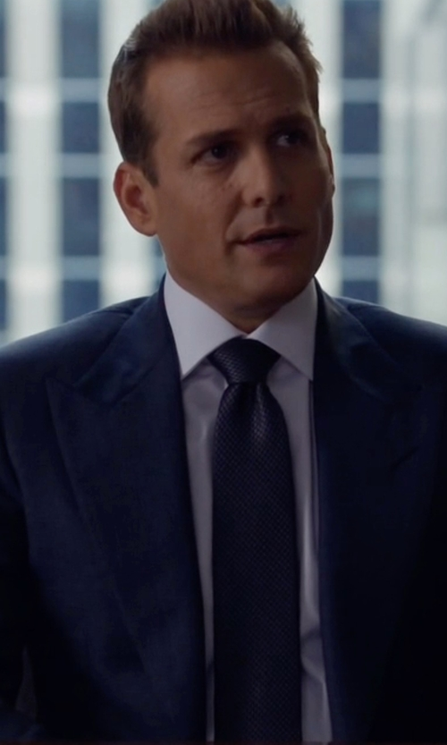 Gabriel Macht with Ermenegildo Zegna Torino Peak-Lapel Two-Piece Wool Suit in Suits