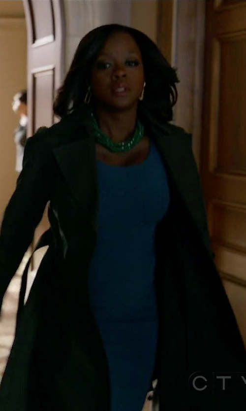 Viola Davis with Sportmax Long Belted Coat in How To Get Away With Murder