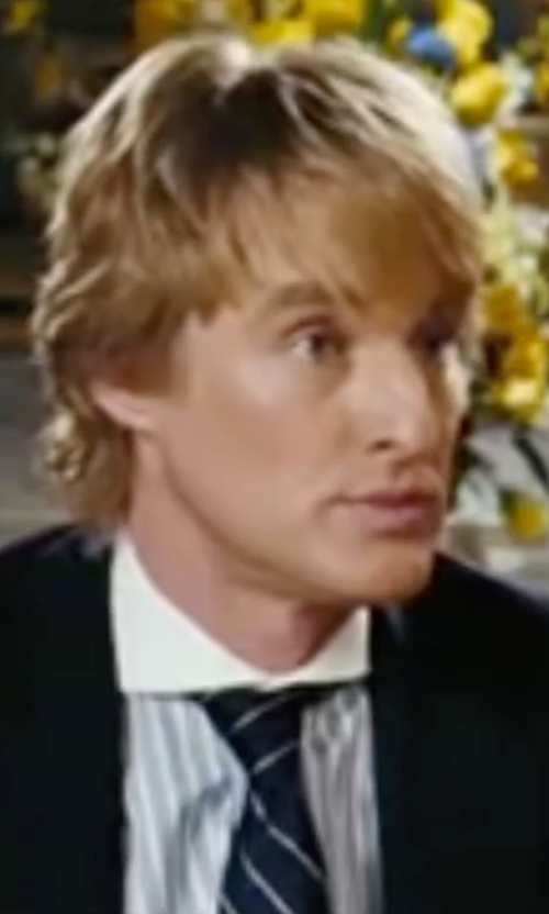 Owen Wilson with Ralph Lauren Striped Silk Repp Tie in Wedding Crashers