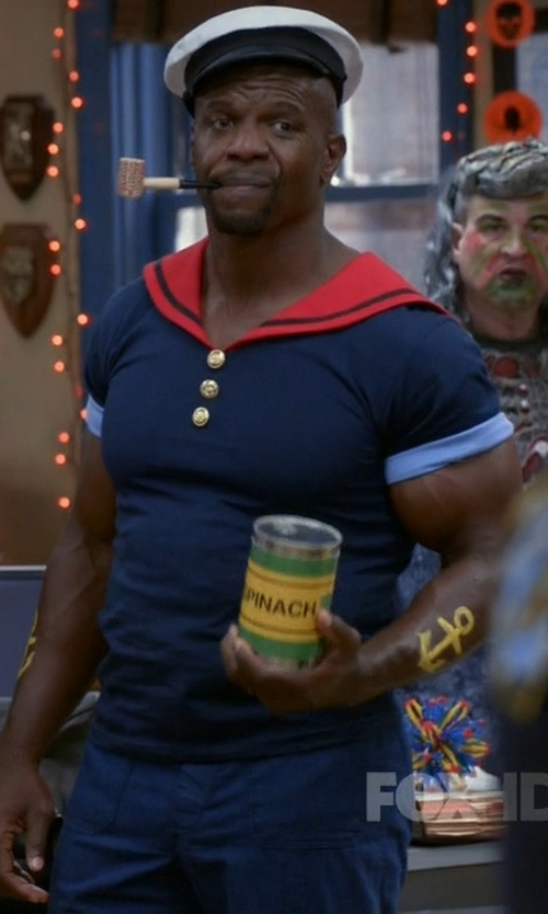 Terry Crews with Fas Cosplay Popeye Costume in Brooklyn Nine-Nine