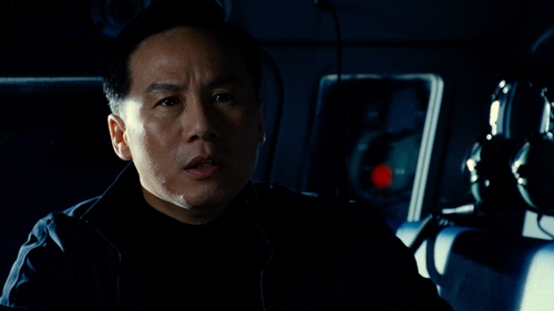 BD Wong with Hugo Boss 'Chayne' Zip Up Jacket in Jurassic World