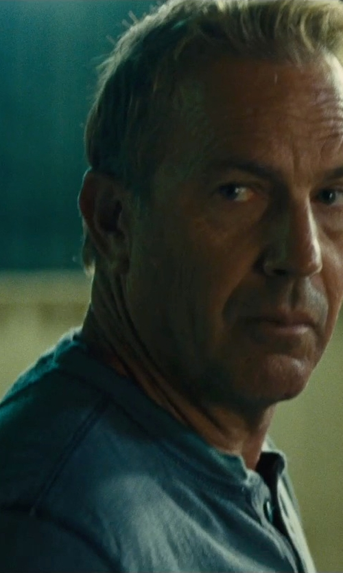 Kevin Costner with L.L.Bean Men's Pima Henley Shirt in McFarland, USA
