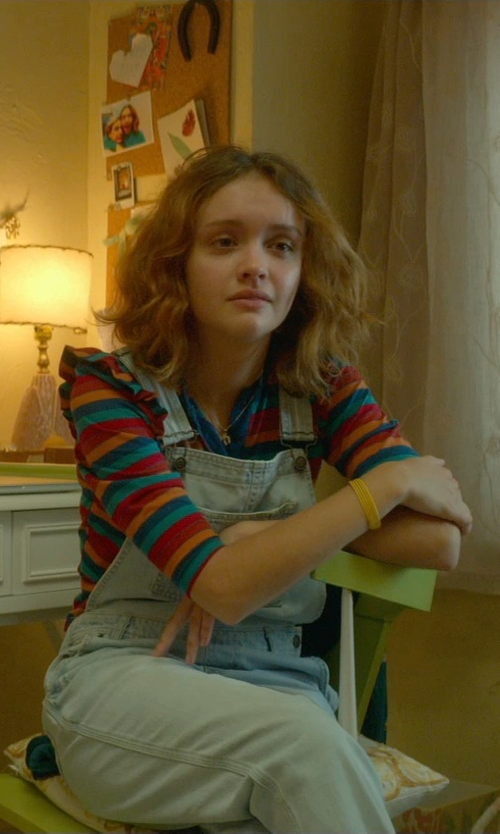 Olivia Cooke with Wit & Wisdom Chambray Overalls in Me and Earl and the Dying Girl