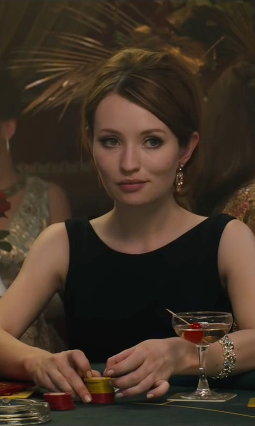Emily Browning with Sorrelli Aegean Sea Rhinestone Chain Bracelet in Legend