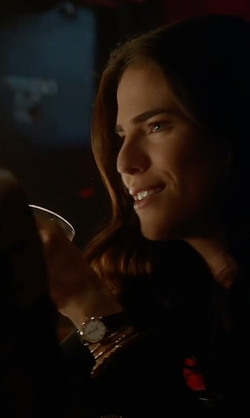 Karla Souza with Versace Steel & Leather Watch in How To Get Away With Murder