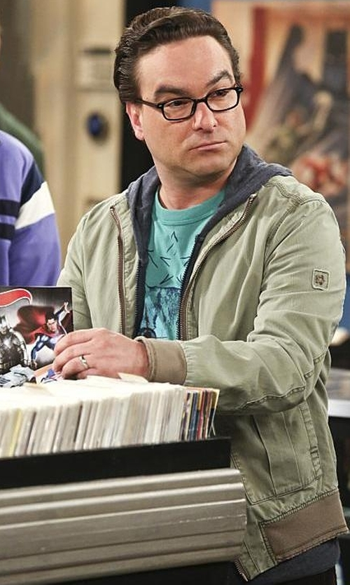 Johnny Galecki with Alpinestars Mischief  Zip Jacket in The Big Bang Theory
