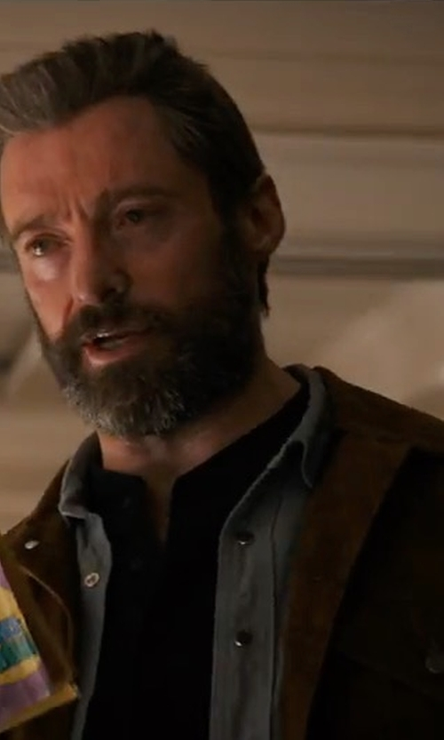 Hugh Jackman with Deus Ex Machina Django Suede Jacket in Logan