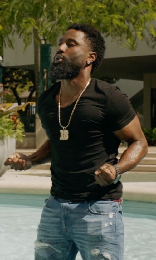 John David Washington with Burberry Technical Modal Blend Shirt in Ballers