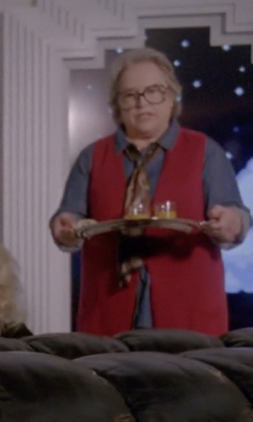 Kathy Bates with Ralph Lauren Erin Wool Scarf in American Horror Story