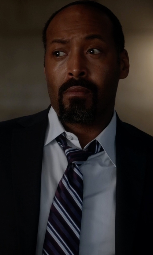 Jesse L. Martin with Barneys New York Textured-Stripe Necktie in The Flash