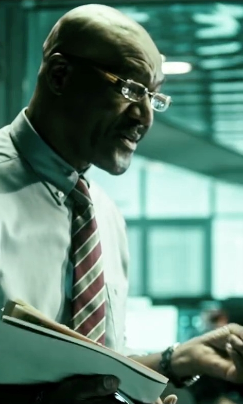 Delroy Lindo with Boss Hugo Boss Leather Watch in Point Break