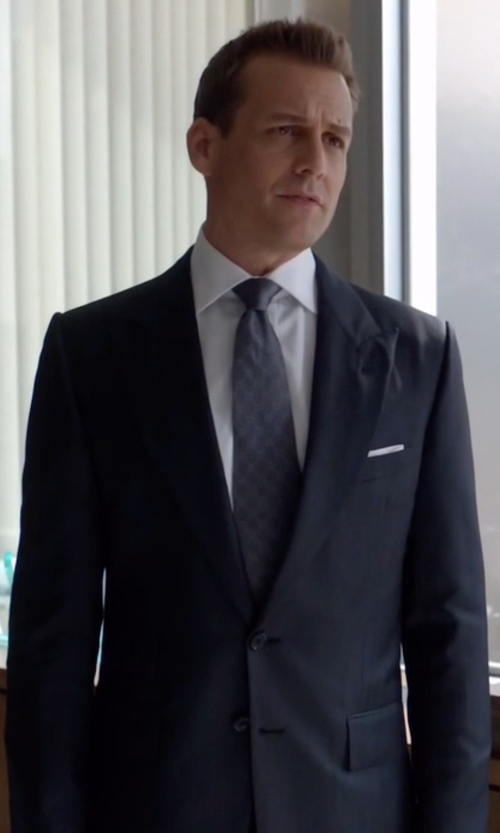 Gabriel Macht with Tom Ford O'Connor Base Sharkskin Suit in Suits