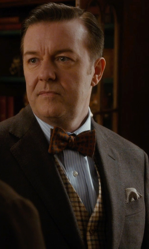 Ricky Gervais with Armani Collezioni Pinstripe Dress Shirt in Night at the Museum: Secret of the Tomb