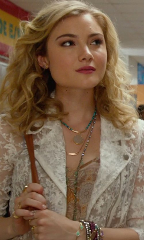Skyler Samuels with House Of Harlow 1960 Jewelry Acute Cuff Bracelet in The DUFF