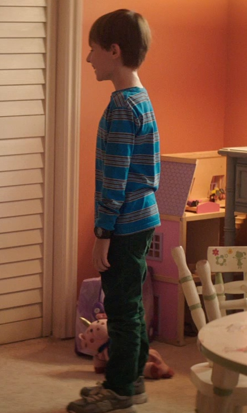 Kyle Catlett with Burberry Children Gabardine Casual Pants in Poltergeist