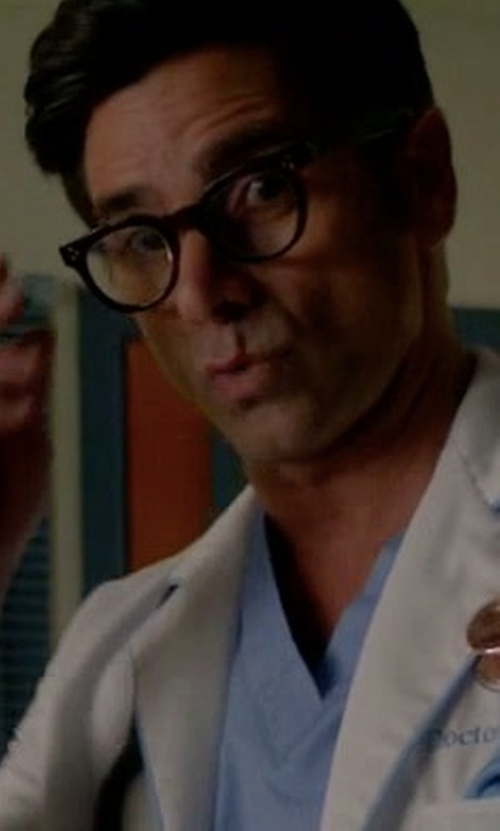 John Stamos with Barton Perreira Byron Square Optical Glasses in Scream Queens