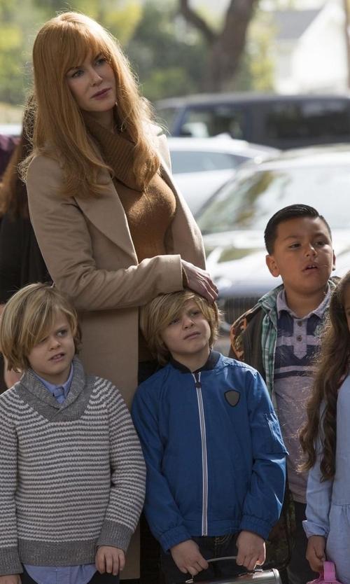 Nicole Kidman with Lioness Donatella Short Winter Coat in Big Little Lies