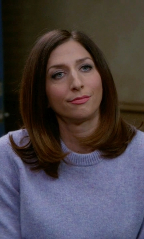 Chelsea Peretti with Saks Fifth Avenue Collection  Cashmere Crewneck Sweater in Brooklyn Nine-Nine