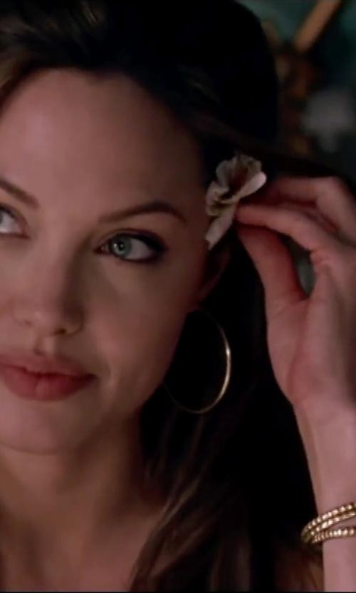 Angelina Jolie with A.B.S. by Allen Schwartz Three-Piece Pave Bangle Set in Mr. & Mrs. Smith