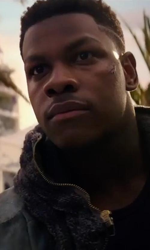 John Boyega with Topman Distressed Denim Western Jacket in Pacific Rim: Uprising
