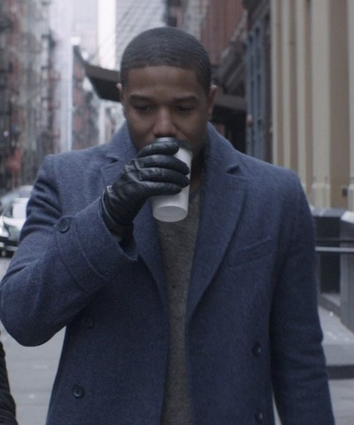 Michael B. Jordan with Knutsford Cashmere Leather Gloves in That Awkward Moment
