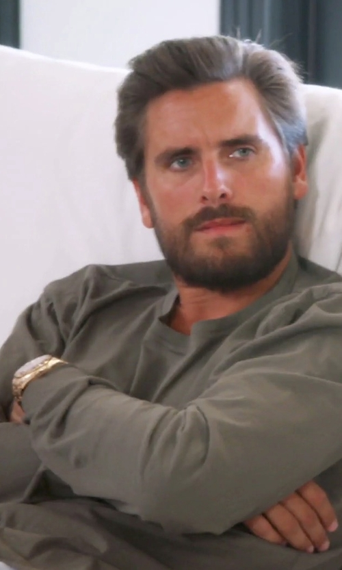 Scott Disick with John Elliott Mercer Cotton-Jersey T-Shirt in Keeping Up With The Kardashians
