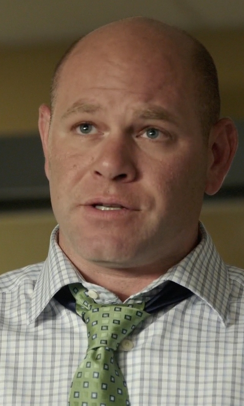 Domenick Lombardozzi with J.Z. Richards Medallion Silk Tie in Rosewood