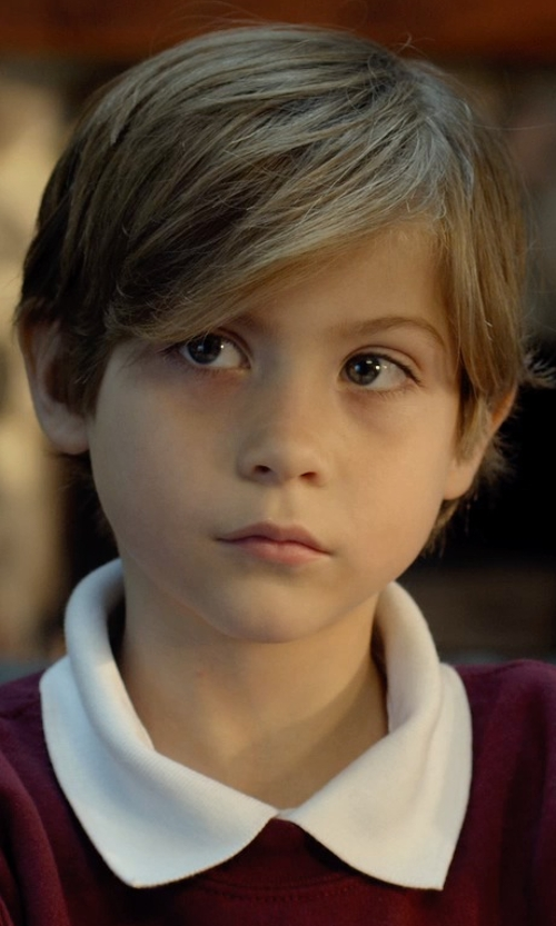Jacob Tremblay with Gucci Boy's Pique Polo Shirt in Before I Wake