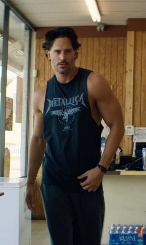 Joe Manganiello with Rock Wares USA Metallica 'Ride The Lightning' Black Tank Top in Magic Mike XXL