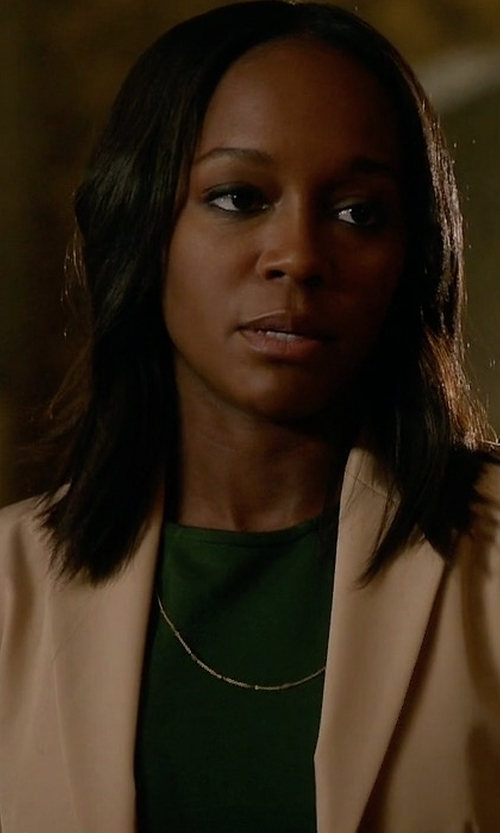 Aja Naomi King with Theory Aaren Continuous Wool-Blend Jacket in How To Get Away With Murder
