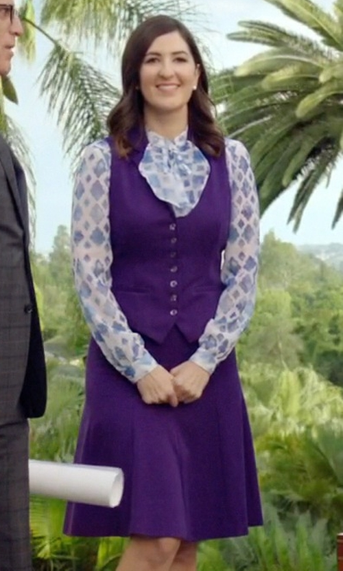D'Arcy Carden with Dani's Choice Everyday High Waist A-Line Skirt in The Good Place